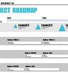 This stylish Project Roadmap Template will give you an advantage in meetings