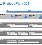 The New Project Plan with Roadmap Template is a Project Management presentation tool using infographics styling